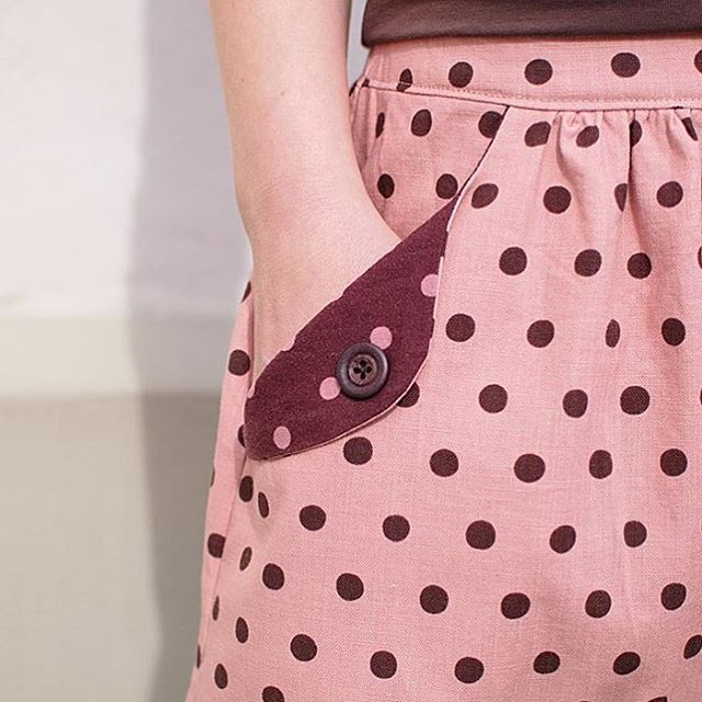These polka dots are stinking cute! Even for adults! lottaskirthellip