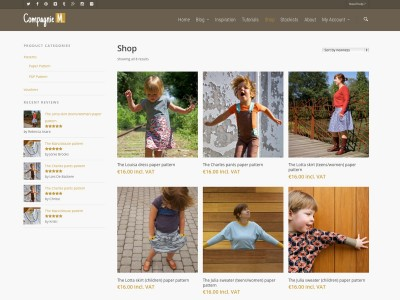Compagnie M. sewing patterns shop page