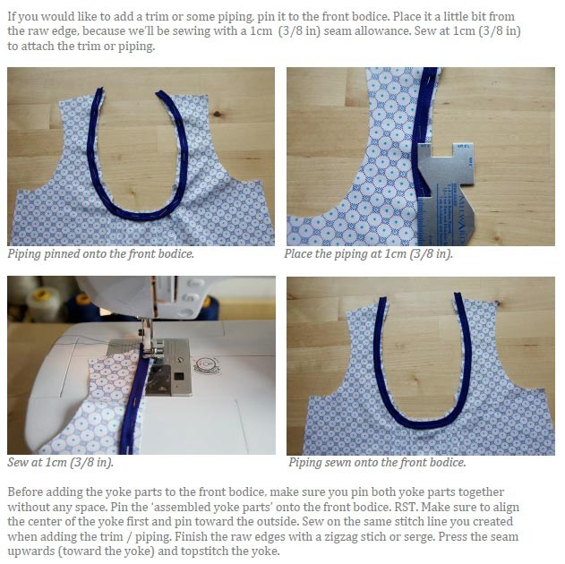 The Mara blouse (children) pdf sewing pattern