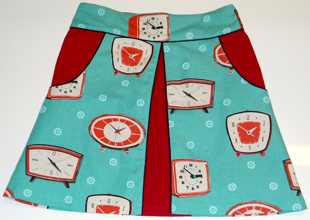 Clock – Swing Skirt by Querida