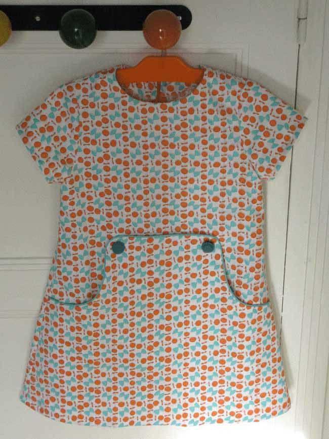 Vintage louisa dress with short sleeves