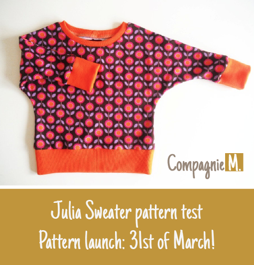 Pattern test Julia sweater: overview