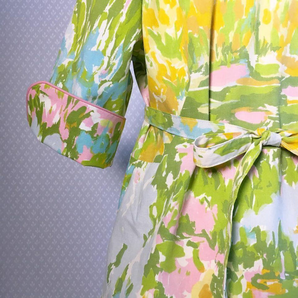 It looks like a painting to me! frederiquedress newpattern forgirlshellip