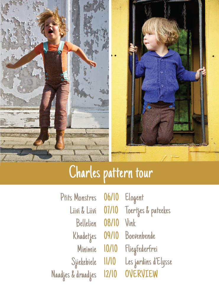 Charles pants flyer patroontoer