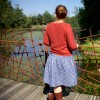 The Lotta skirt pattern for teens & women - back view