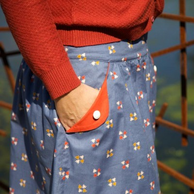 Lotta skirt pattern for teens & adults - detail of the pocket
