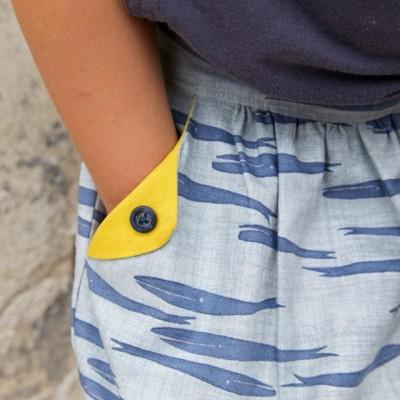 Lotta skirt pattern for girls, detail view
