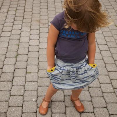 Lotta skirt pattern for girls - front view