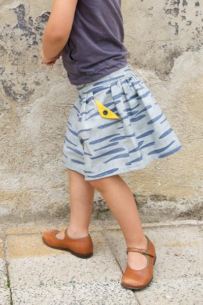 The Lotta skirt pattern for teens & women