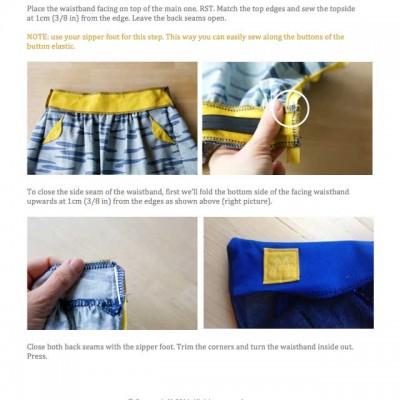 Lotta skirt instruction details
