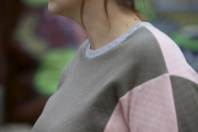 The Julia sweater pattern for teens and adults