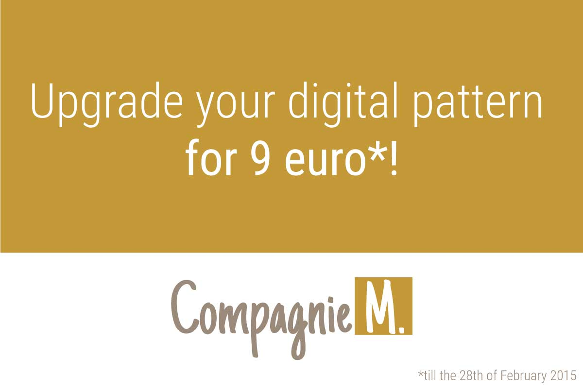 Upgrade your digital pattern for 9 euro!