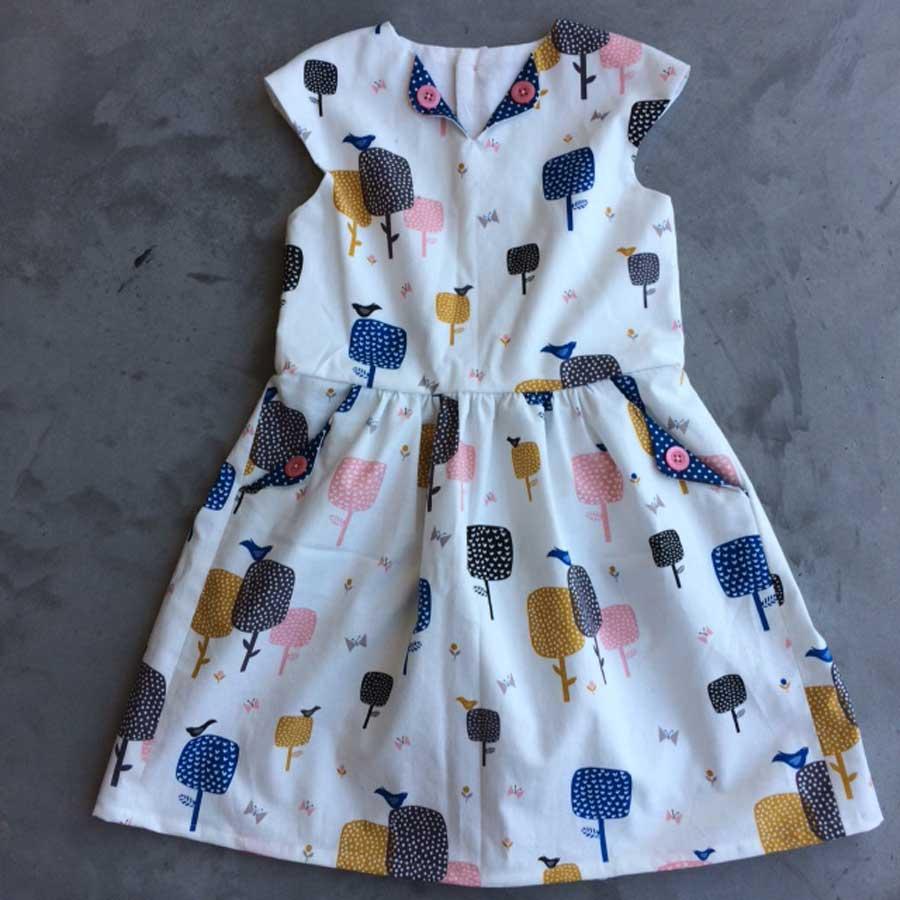 Lotta dress tree fabric