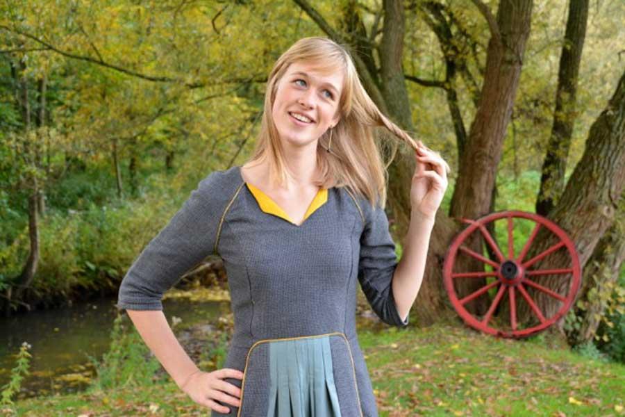 An Ileana-cape and a Louisa-Lotta-Ileana-dress