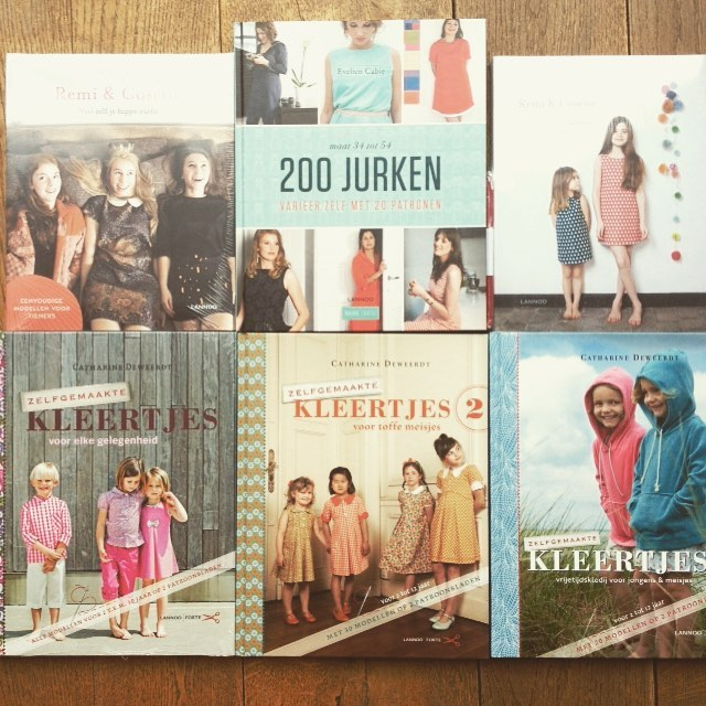 Sewing books sponsored by uitgeverijlannoo for madelinedestoffenmadam! Thanks a lot!!!hellip