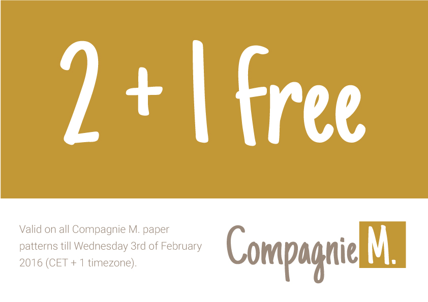Compagnie M. special offer : 2+1 FREE on all paper sewing patterns