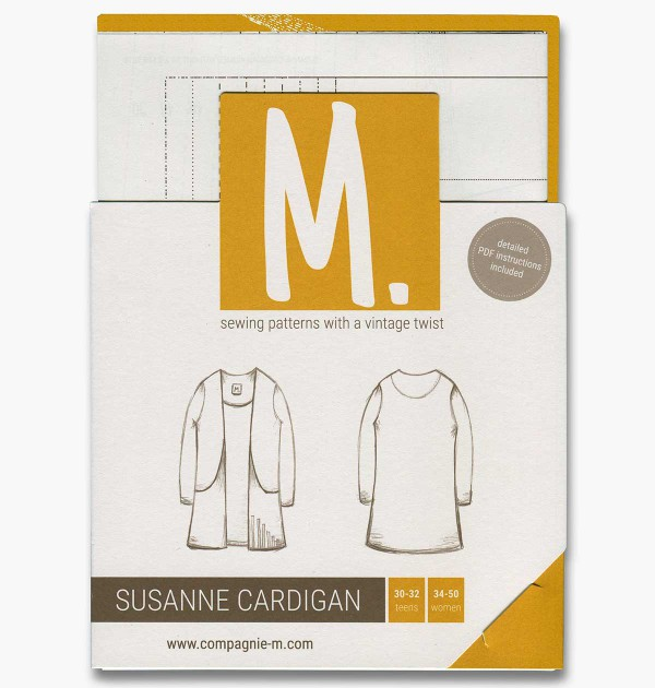 Susanne Cardigan for teens and women sewing pattern