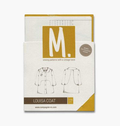 The Louisa coat paper sewing pattern by Compagnie M. is a variation on the popular Louisa dress.