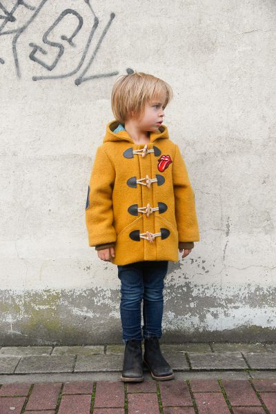 The Lewis coat for boys sewing pattern by Compagnie M. is a versatile winter coat with lots of options.