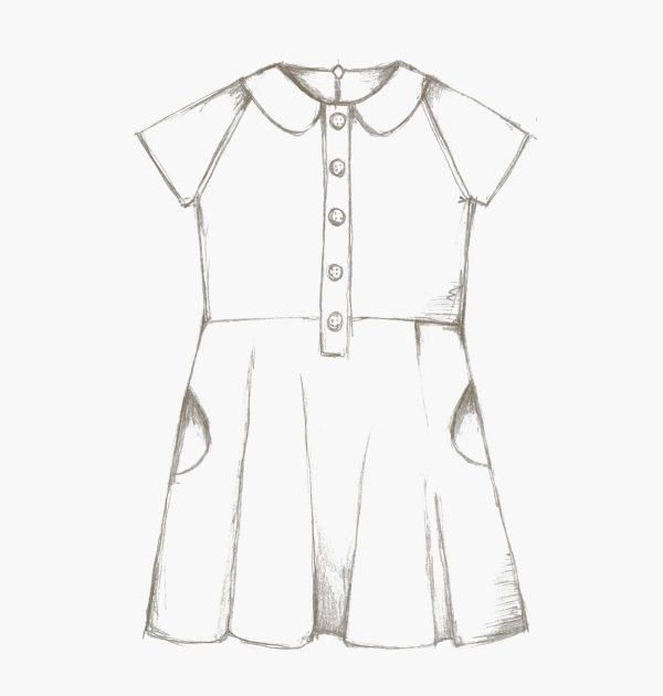 The Ileana Dress sewing pattern for kids