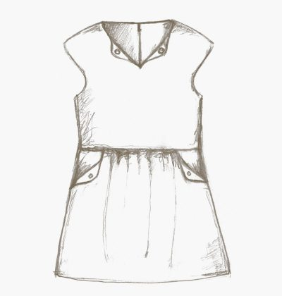 The Lotta dress for girls sewing pattern