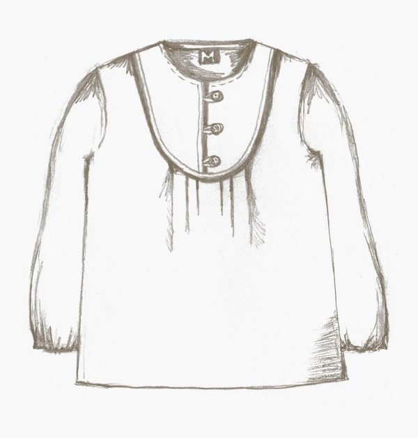 The Mara blouse for girls sewing pattern