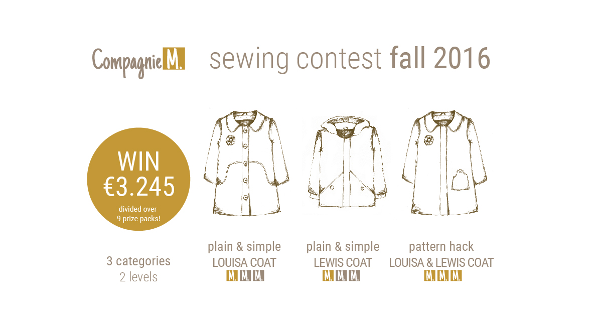 The Compagnie M. sewign contest: 3 categories, 9 prize packs… worth 3.245 euro in total!!!