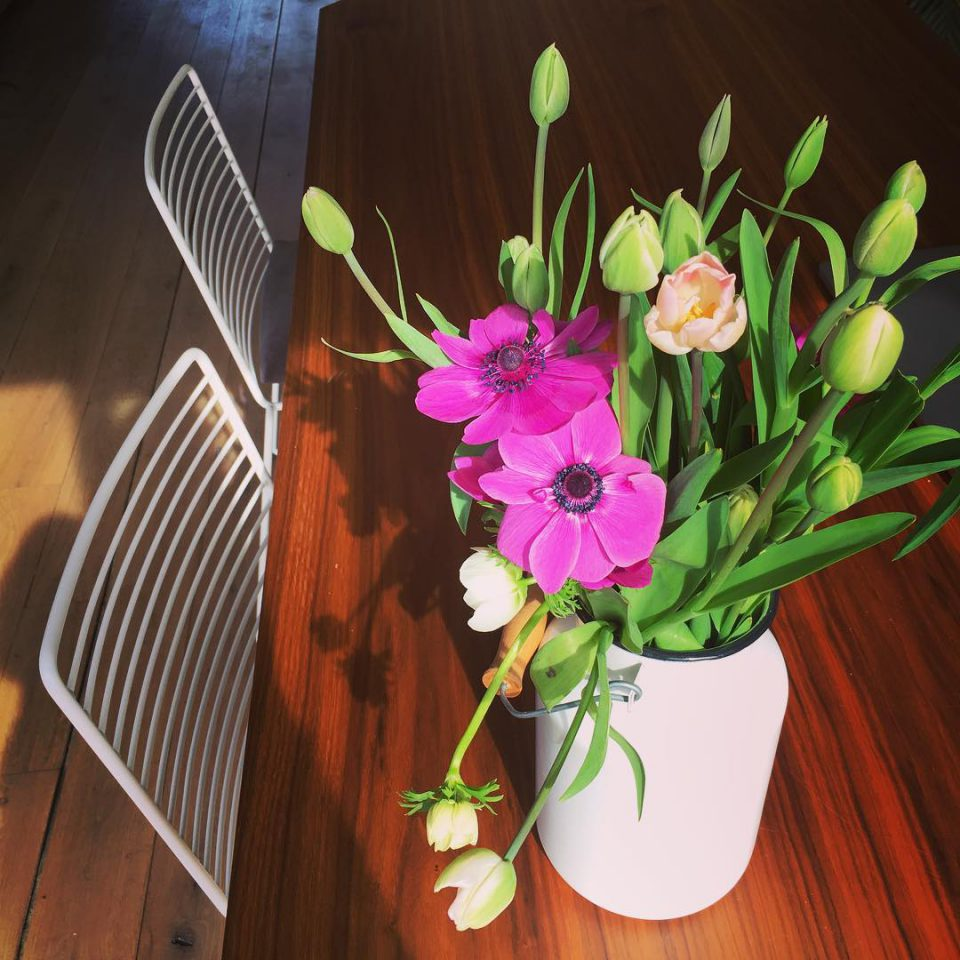 Enjoy your weekend! Thanks for the homegrown flowers! fleursdici