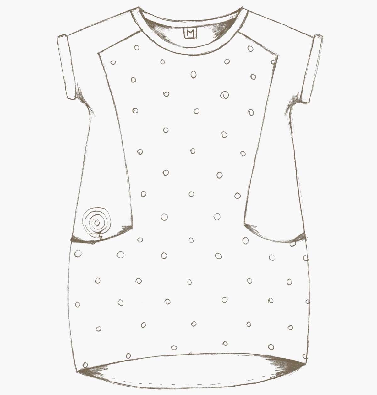The Nore Dress and T-shirt sewing pattern | Compagnie-M