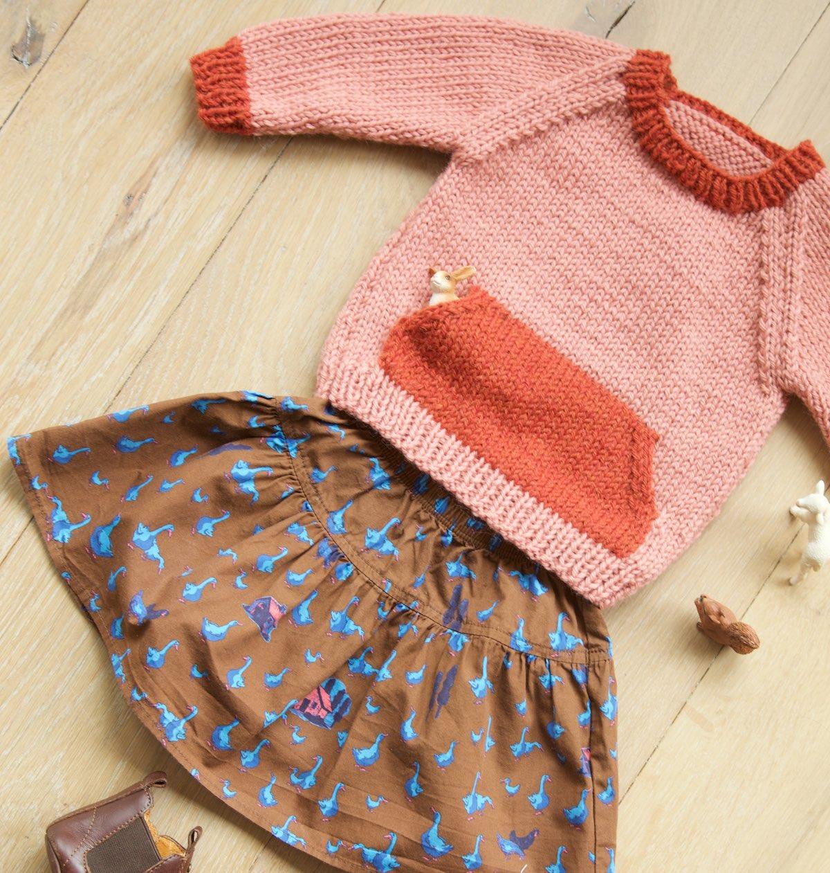Quokka Sweater knitting pattern for kids