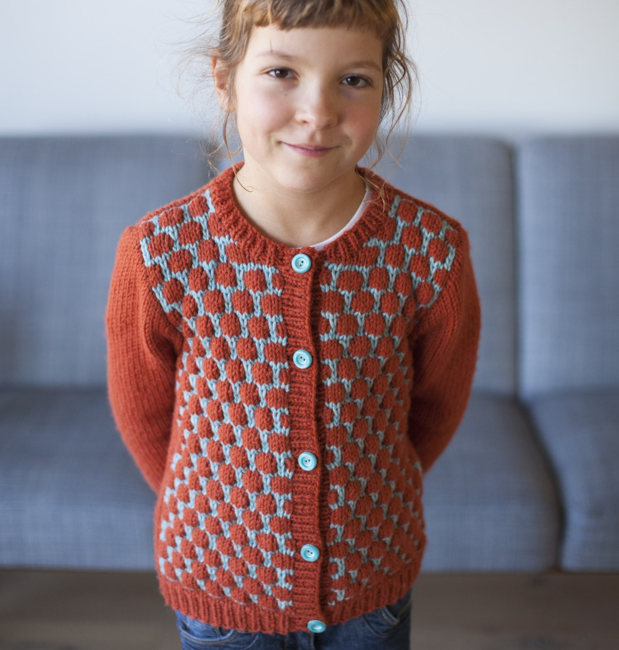 Dadirri Cardigan knitting pattern for kids | Compagnie-M