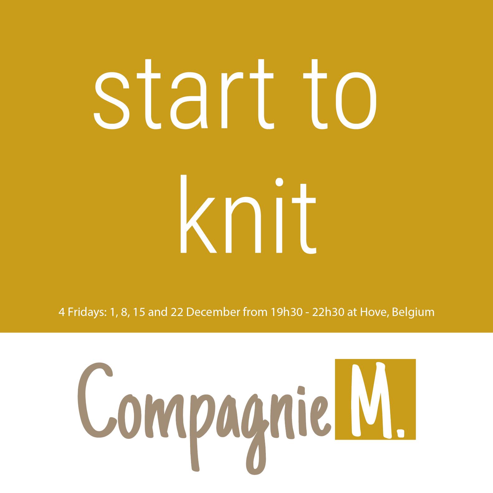 Start to knit workshop!